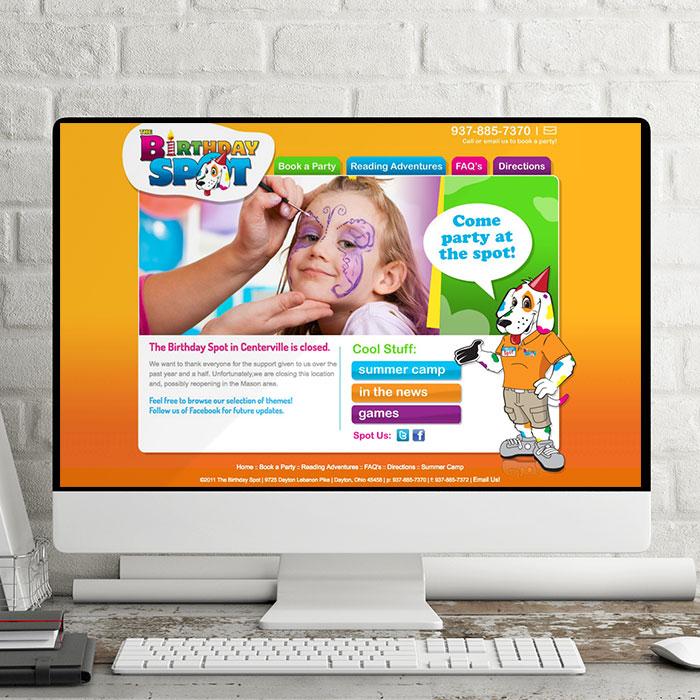The Birthday Spot Web Design